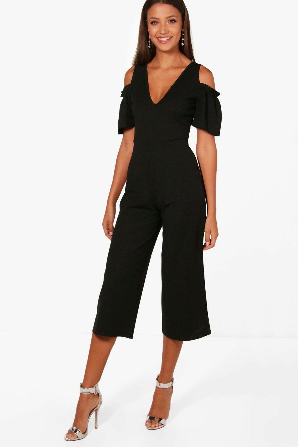 35403d44381c29 Tall combinaison jupe-culotte à épaules dénudées | Boohoo