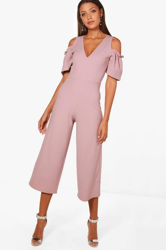 Tall Cold Shoulder Culotte Jumpsuit
