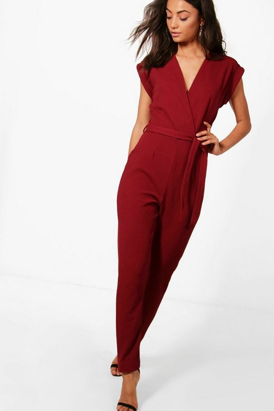 Tall Wrap Tie Waist Jumpsuit