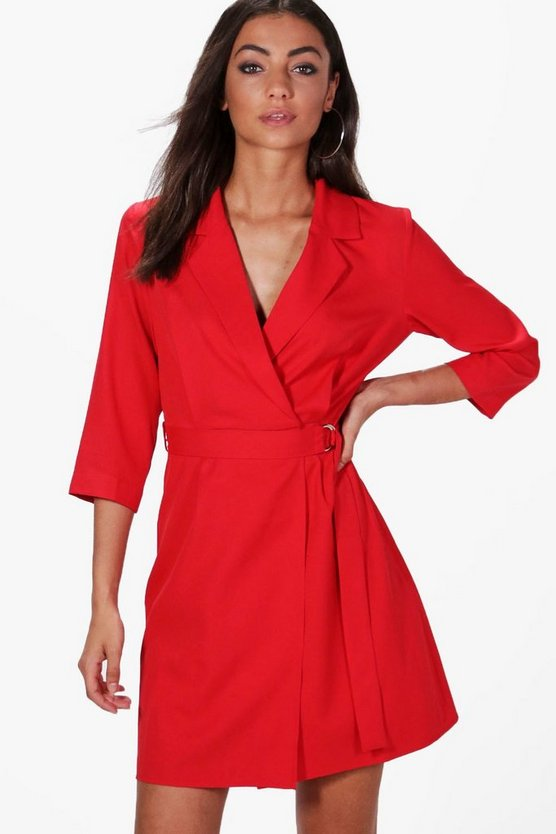 Tall Flora Tie Side Wrap Dress