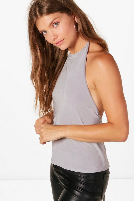 Tall Erica Slinky Halterneck Backless Top