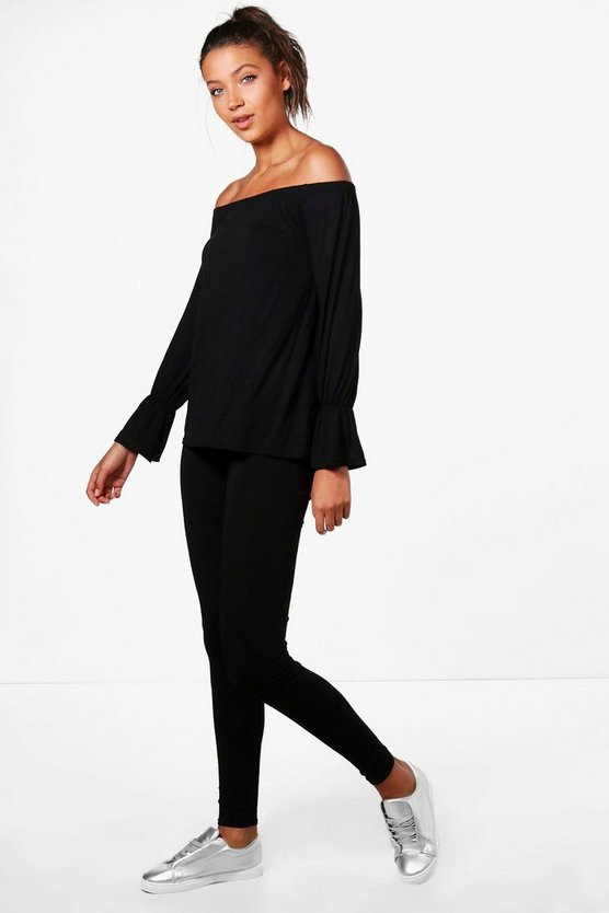 Tall Mia Off The Shoulder Top & Legging Lounge Set