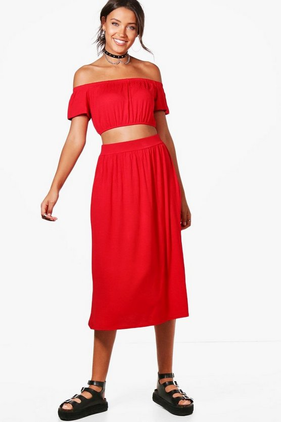Tall Lily Off The Shoulder Top & Skirt Co-ord