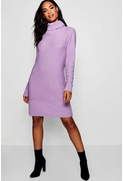 Robe pull col roulé Tall, Lilac, Femme