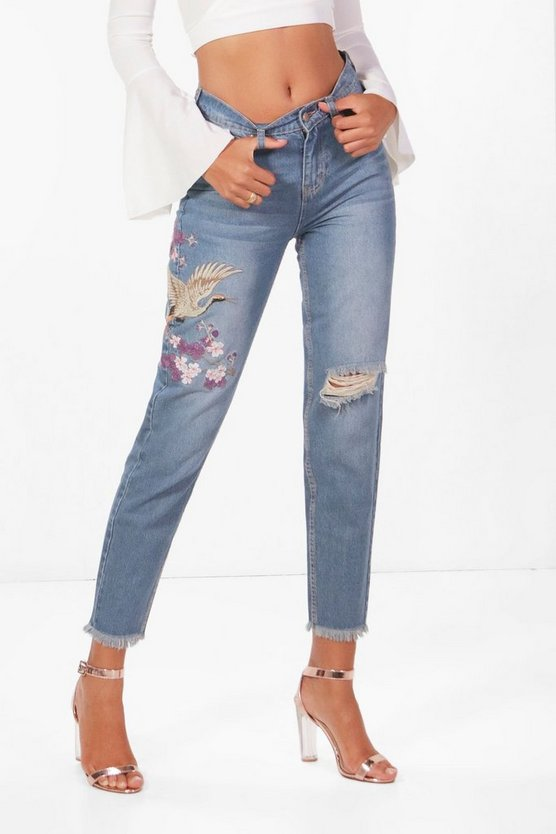Tall Freya Oriental Embroidered Jean