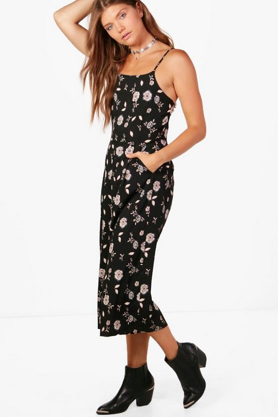Tall Emily Dark Floral Jumpsuit