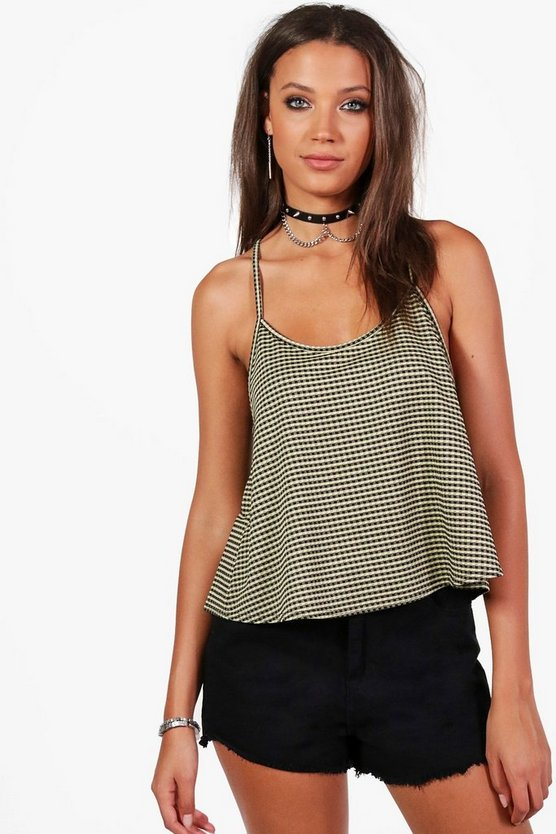 Tall Felicity Strappy Gingham Cami