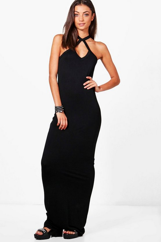 Tall Leah Halter Strappy Maxi Dress