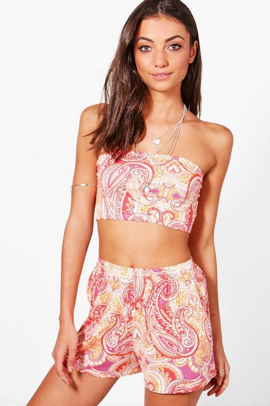 Tall Erin Bandeau Top & Flippy Short Co-ord