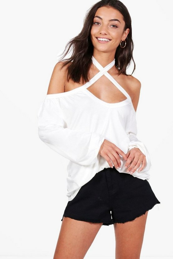 Tall Bethany Cross Front Detail Top