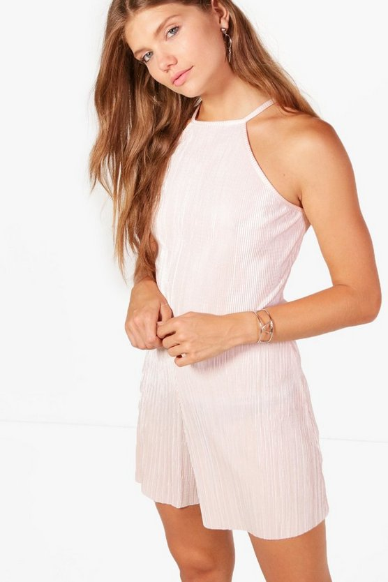 Tall Sarah Strappy Pleated Playsuit