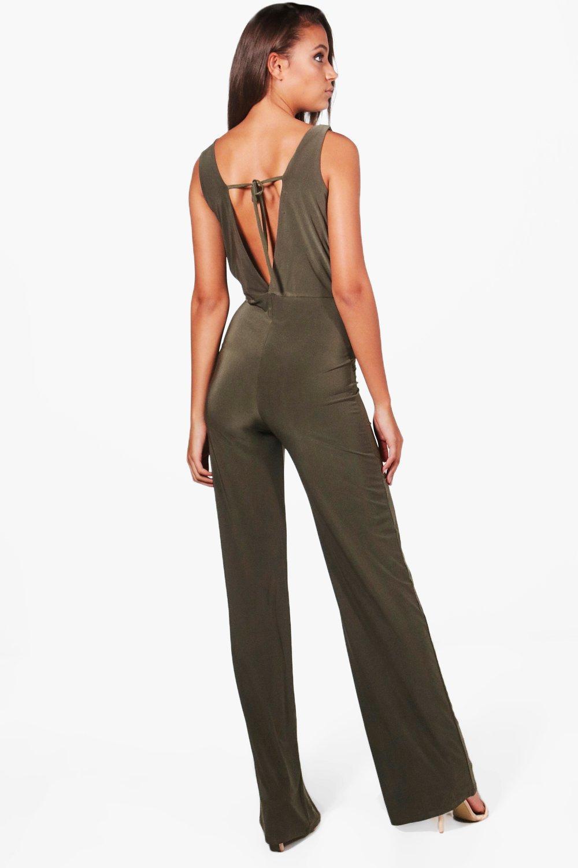 f7f367b60d04 Boohoo womens tall wrap front wide leg slinky jumpsuit ebay jpg 1000x1500 Slinky  jumpsuit