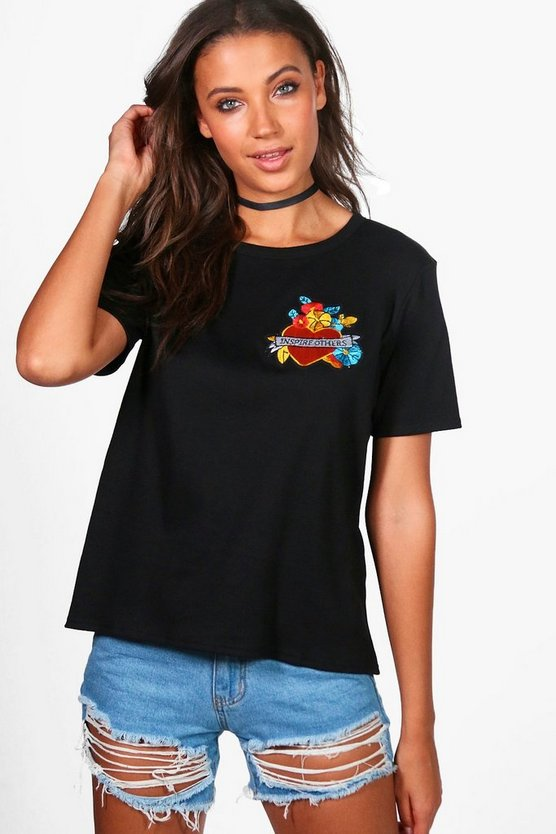 Tall Kacy Heart Badge T-Shirt