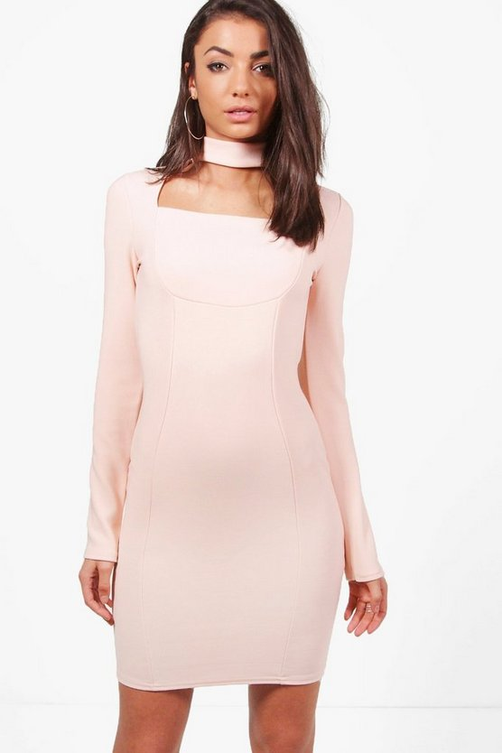 Tall Beth Bandage Cut Out Neck Dress
