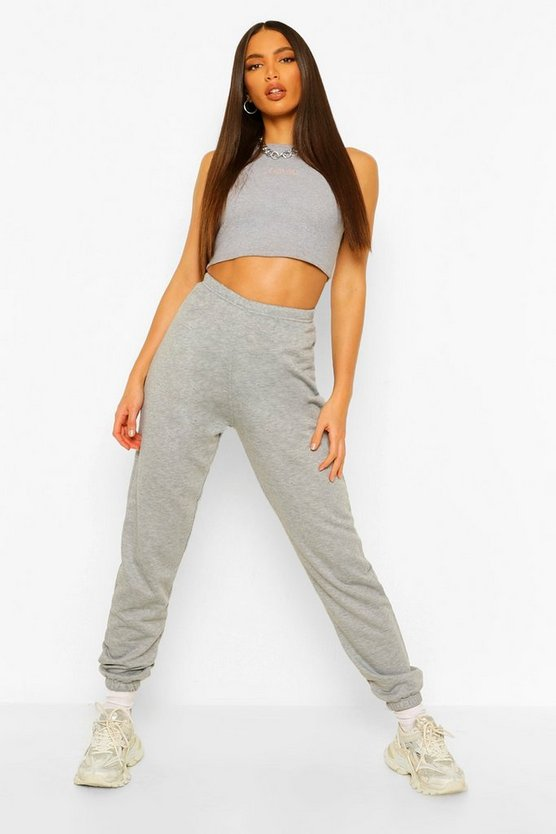 Womens Grey Tall Running Joggers