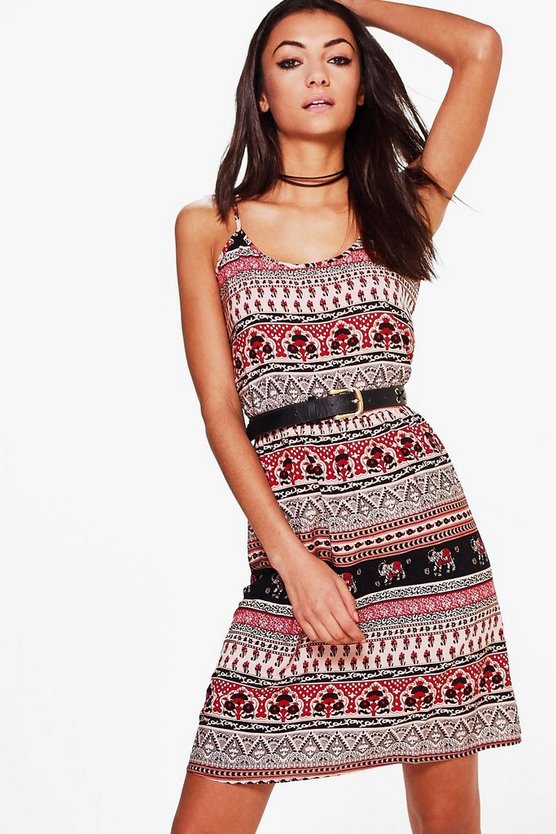Tall Alexane Elephant Print Cami Dress