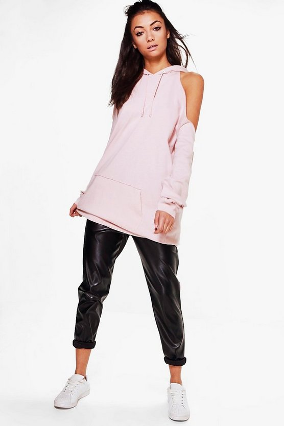 Tall Neve Super Oversized Cold Shoulder Hoody