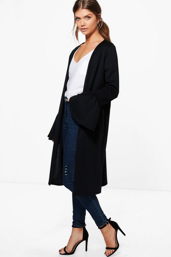 Tall Maire Ruffle Sleeve Duster Jacket