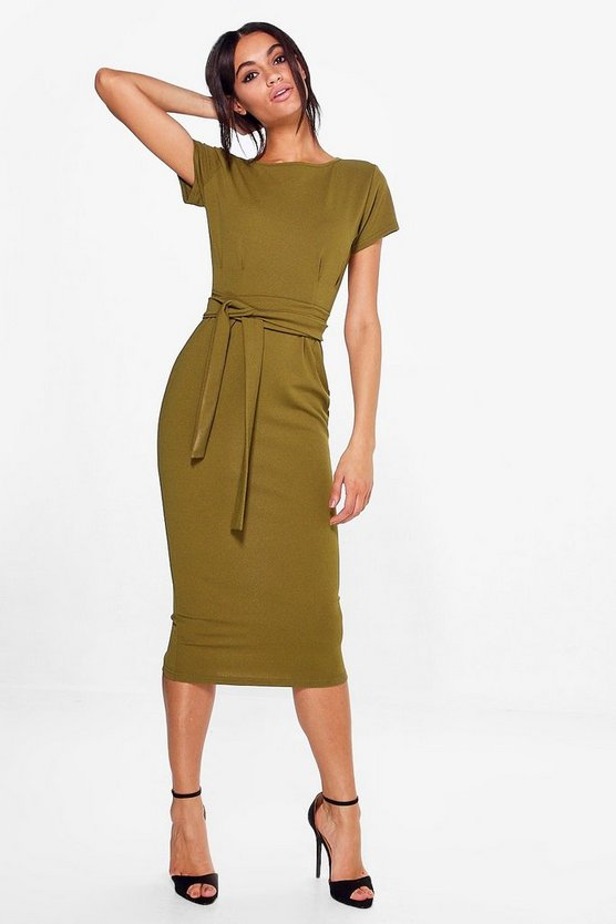 Tall Persia Belted Premium Midi Dress