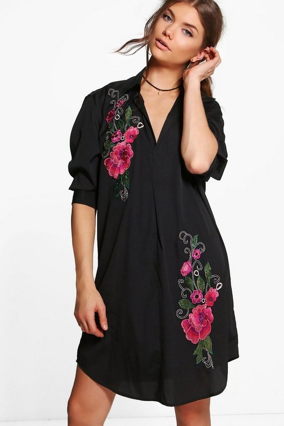 Tall Mari Premium Embroidered Woven Dress