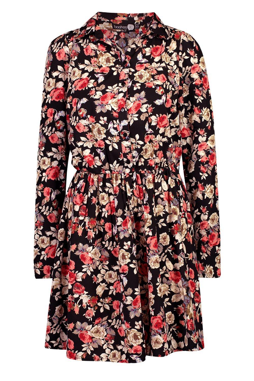 abito camicia abito Tall a abito Tall floreale floreale a camicia a Tall camicia HACwqCzx1