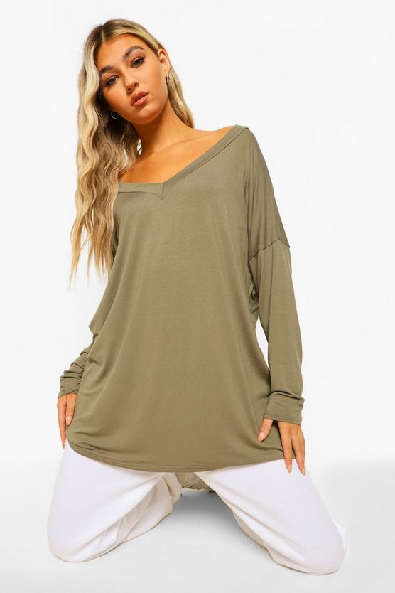 Tall  Oversized Long Sleeve Top