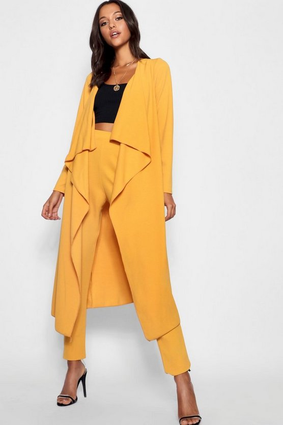 Tall Waterfall Duster Jacket Tall Waterfall Duster Jacket by Boohoo