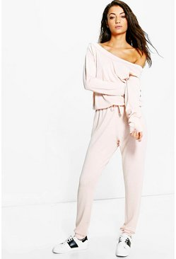 Blush Tall  Slash Neck Lounge Jumpsuit