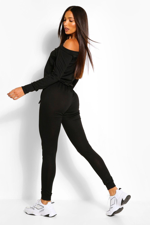 86bd80c382b3 Boohoo Womens Tall Slash Neck Lounge Jumpsuit