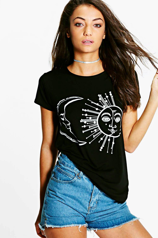 T oversize sole stampa alta con shirt e 4RnOrH4