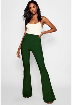 Womens Khaki Tall Basic Stretch Skinny Flares