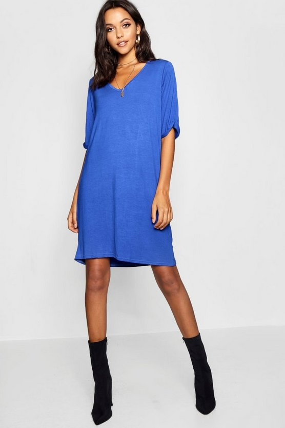 Tall Turn Cuff Oversized T-Shirt Dress