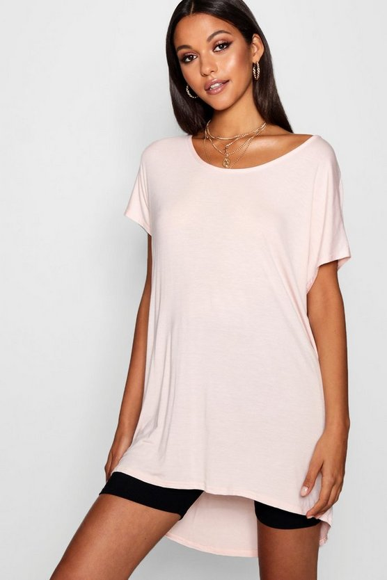 Tall Oversized Scoop Neck Tee