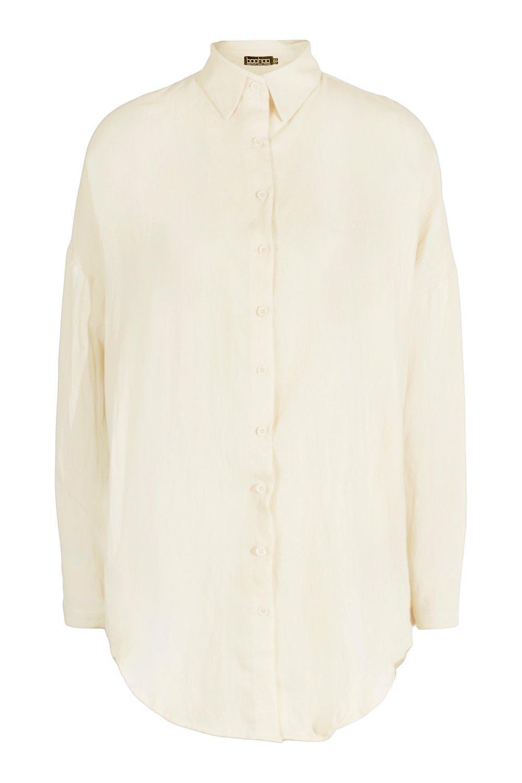 de efecto Arena extragrande tall Camisa lino ER7fwqO5