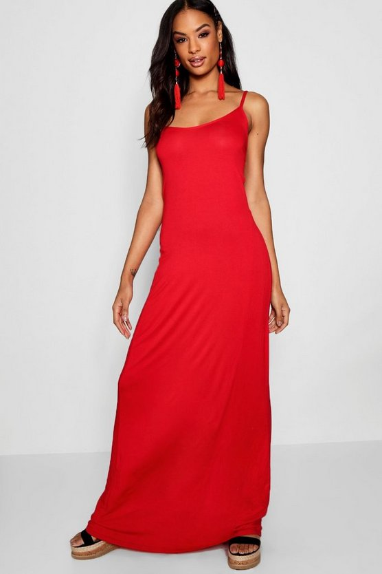 Tall Cross Back Strappy Maxi Dress