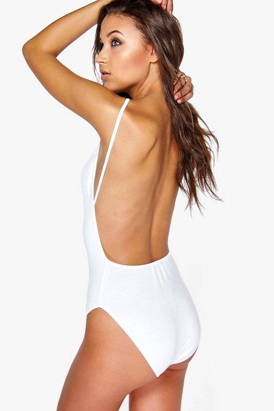 Tall Backless Basic Jersey Bodysuit