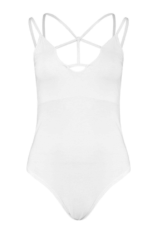 Body con Body con tirantes Blanco tall tirantes Blanco tall q4xEa46