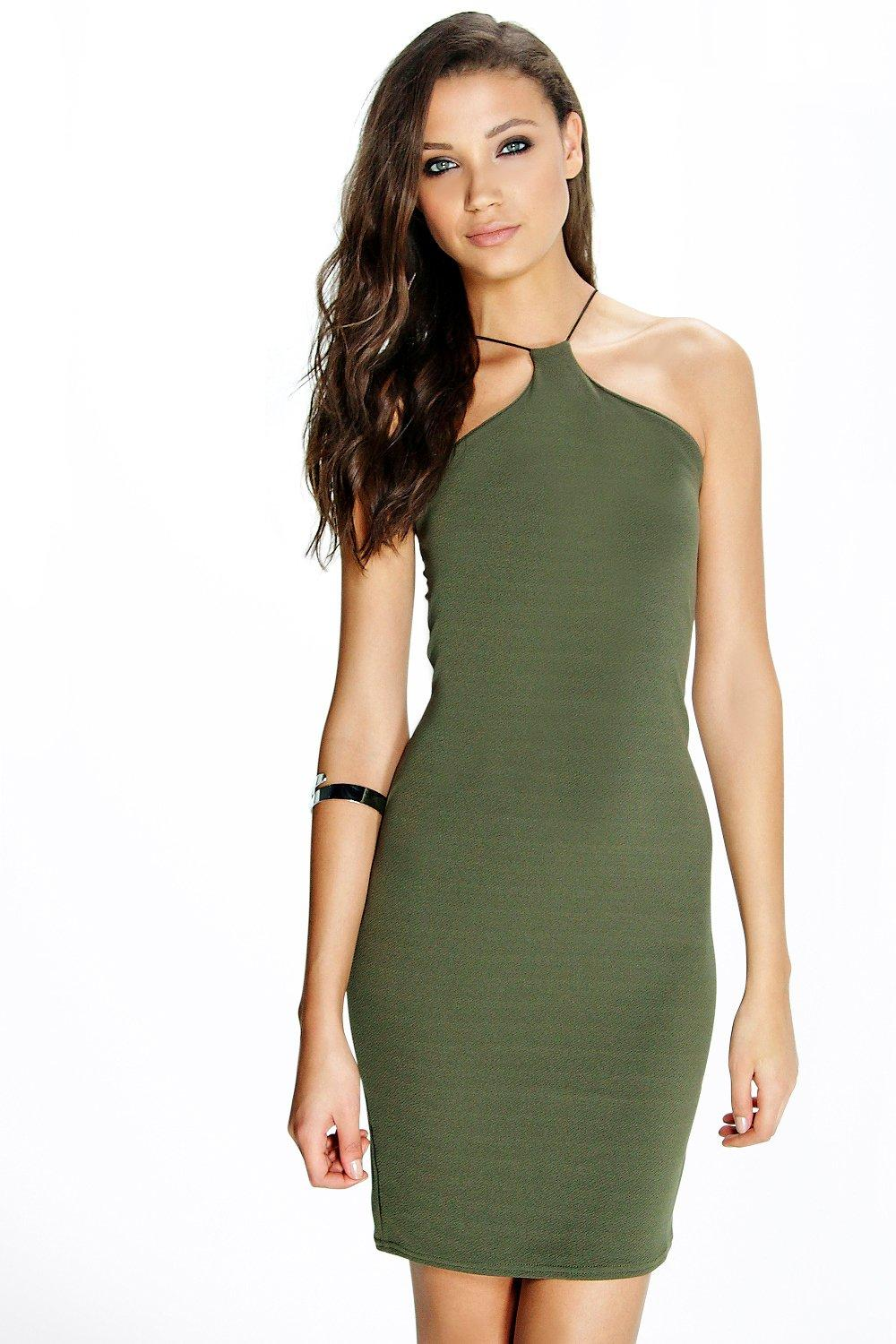 d94f04fa36f9 Tall Marce Strappy Bodycon Mini Dress | Boohoo