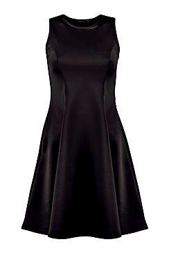 PROPHAIT » Tall Candy Panel Scuba Skater Dress 7af0423f7