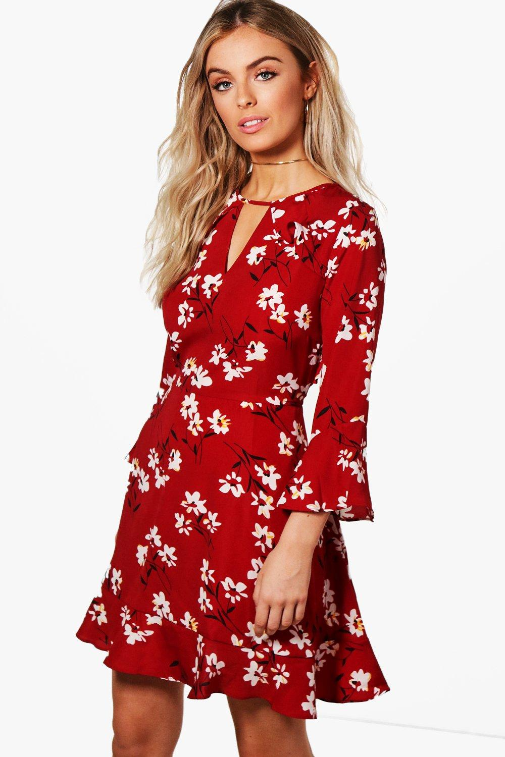 676fd738cc89 Floral Ruffle Tea Dress. Hover to zoom