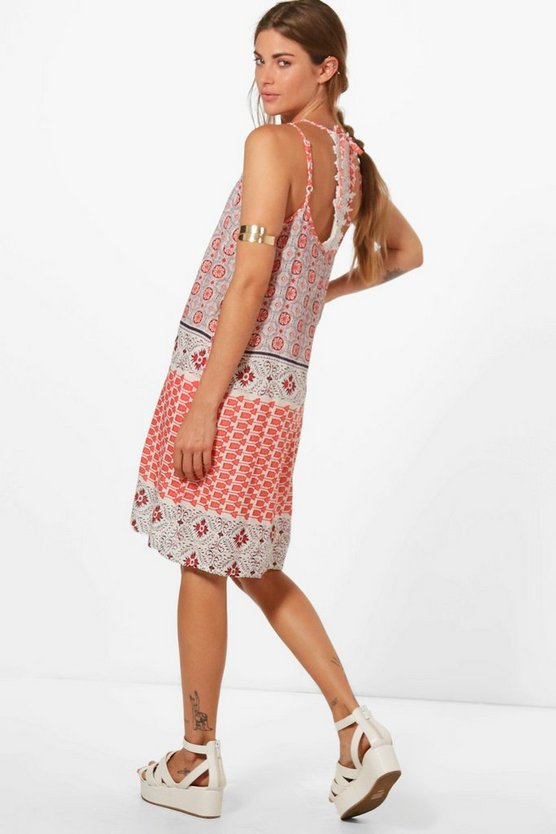 Alana Beach Dress With Crochet Racer Back