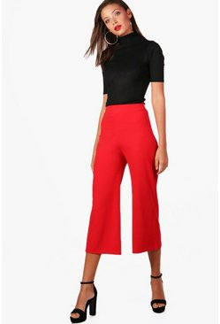 Womens Red Tall Alexis Tailored Wide Leg Culottes