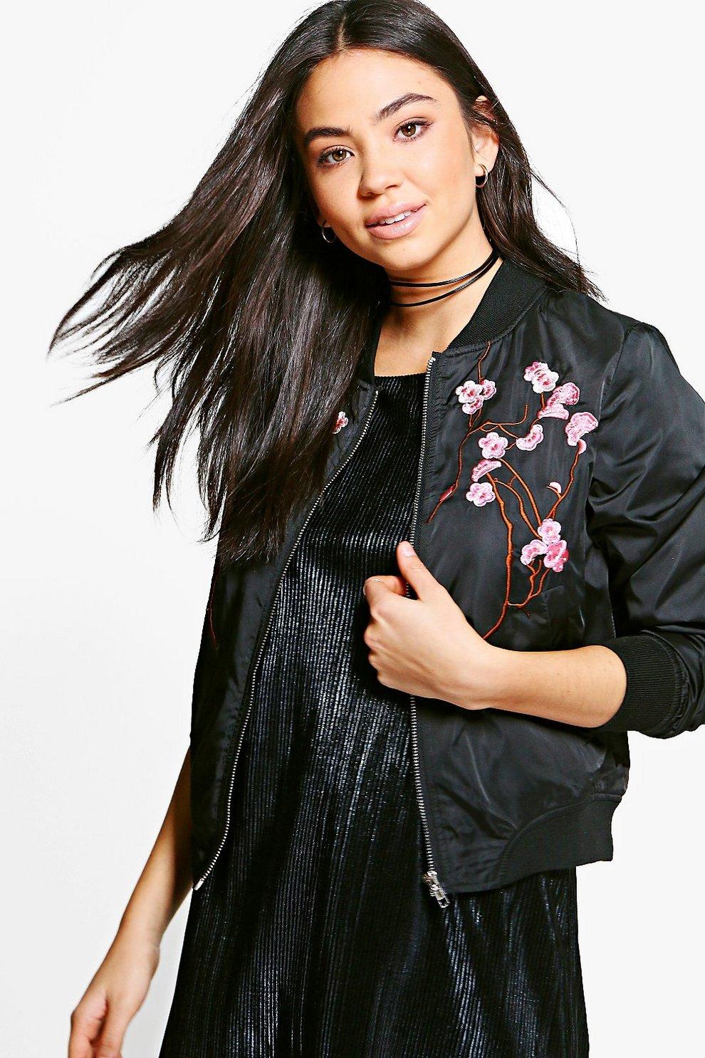 8219621e5 Emily Oriental Embroidered Bomber Jacket