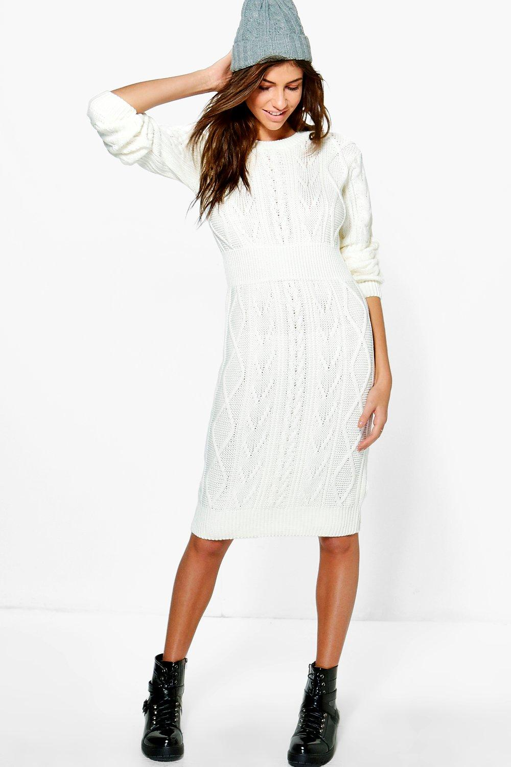 b679732706 Emma Cable Knit Jumper Dress. Hover to zoom