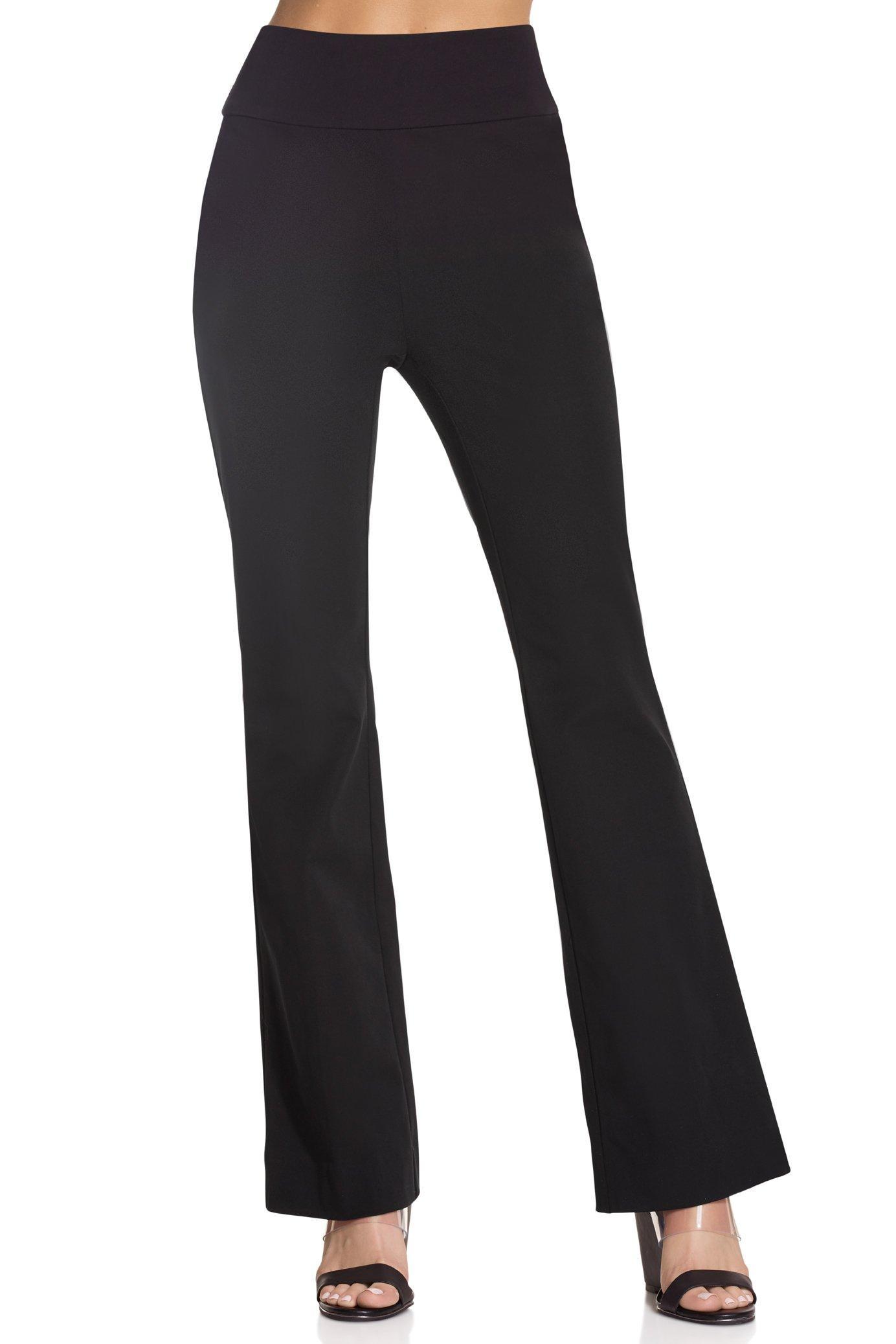 Bootcut side zip pants elastic waist