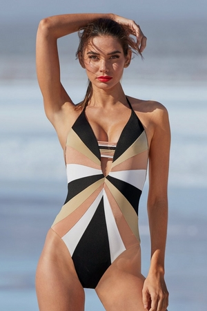 Color Block One-Piece Swimsuit