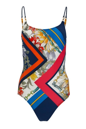 Geometric Print One-Piece Swimsuit