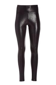 black snakeskin print faux leather leggings