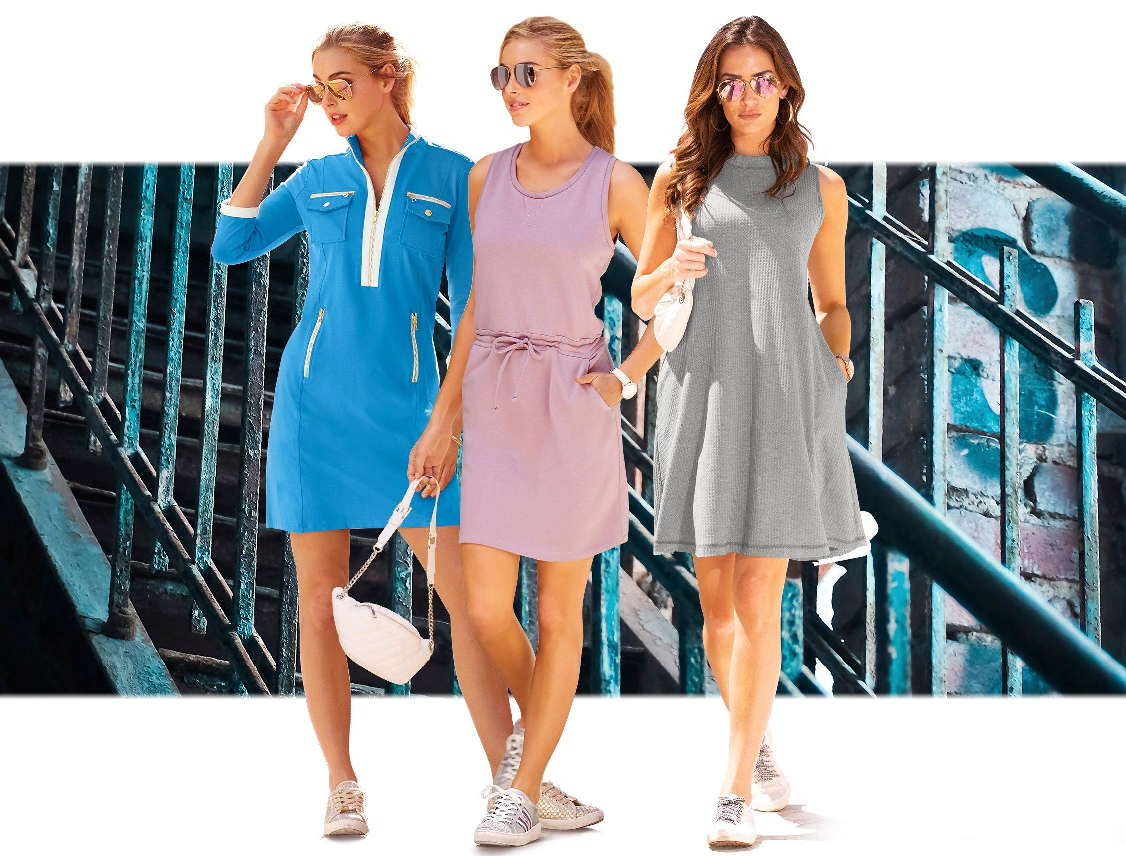 Dress and Sneakers Looks to Wear Now