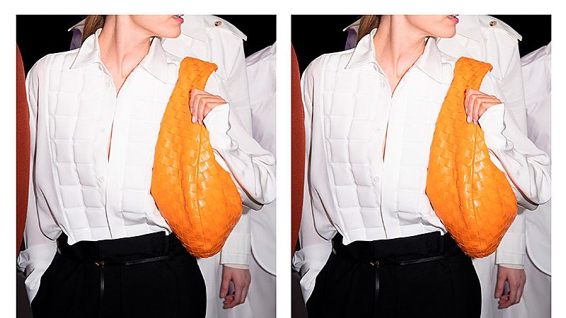 orange bottega bag